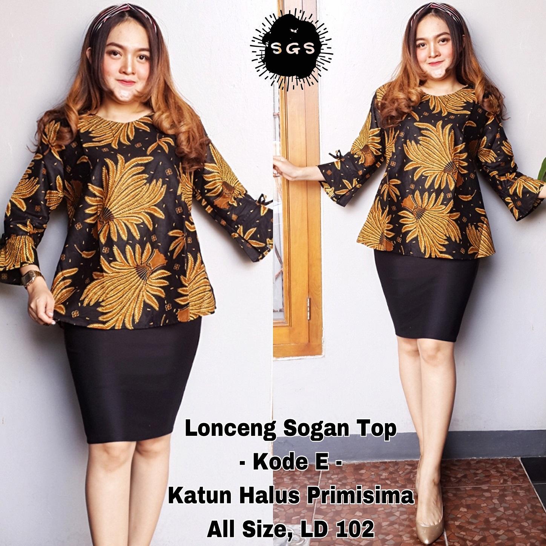 Model Gamis Batik Lengan Lonceng Detil Gambar Online