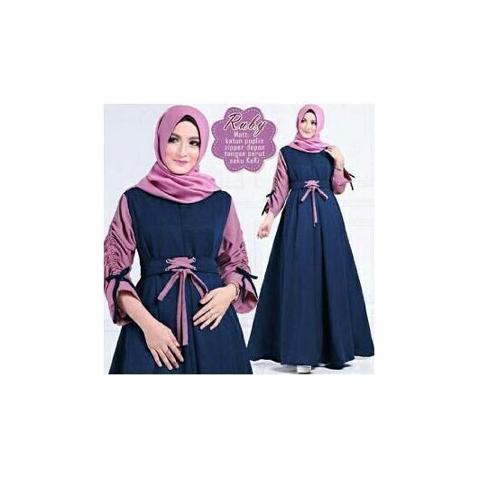 Jual Honeyclothing Gamis Wanita Rabia Dress Muslimah Baju Muslim Fashion Wanita Dress Wanita Satu Set