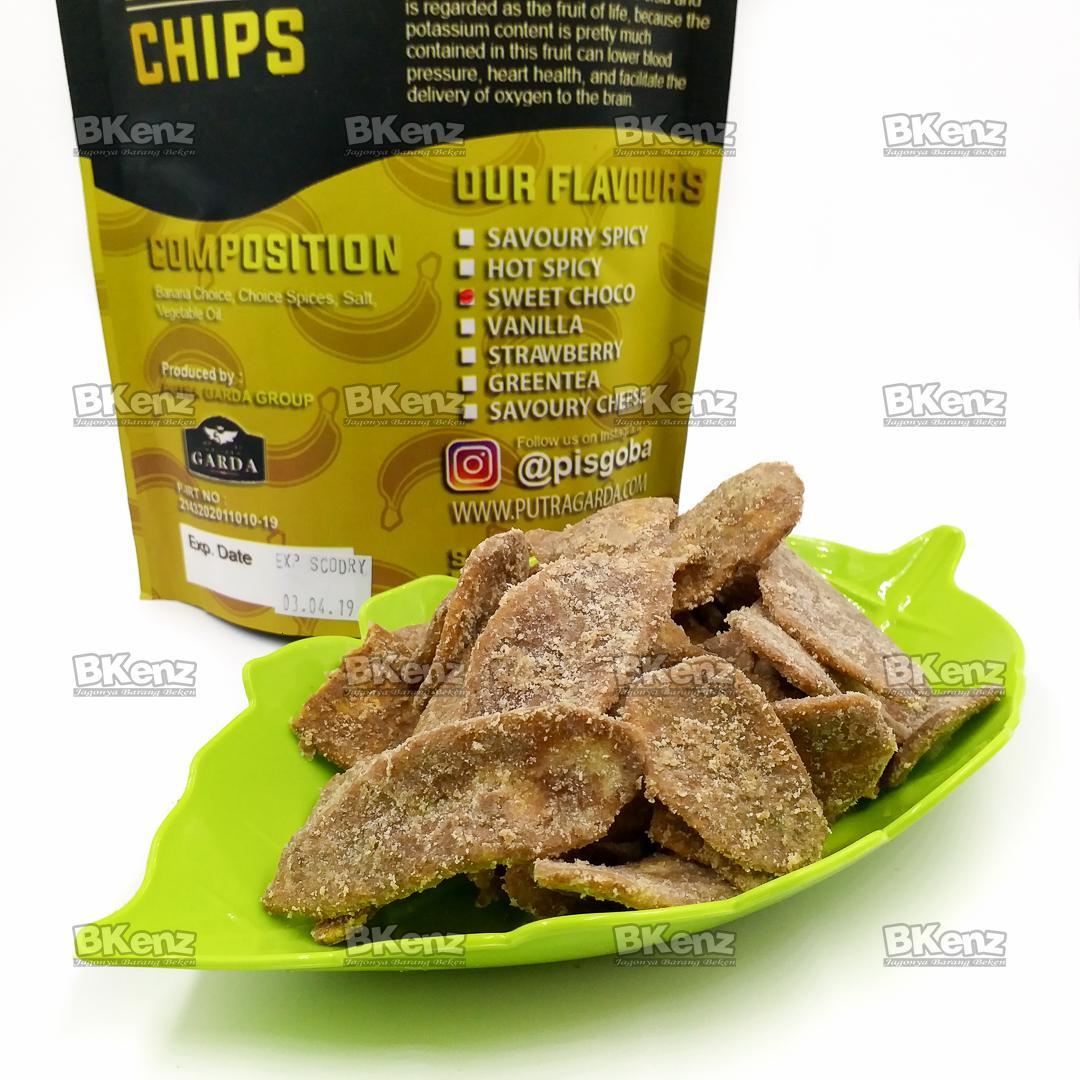 Fitur Kripik Keripik Pisang Bangnana Chips Coklat Dan Harga Terbaru Pisgoba Banana Rasa Sweet Choco