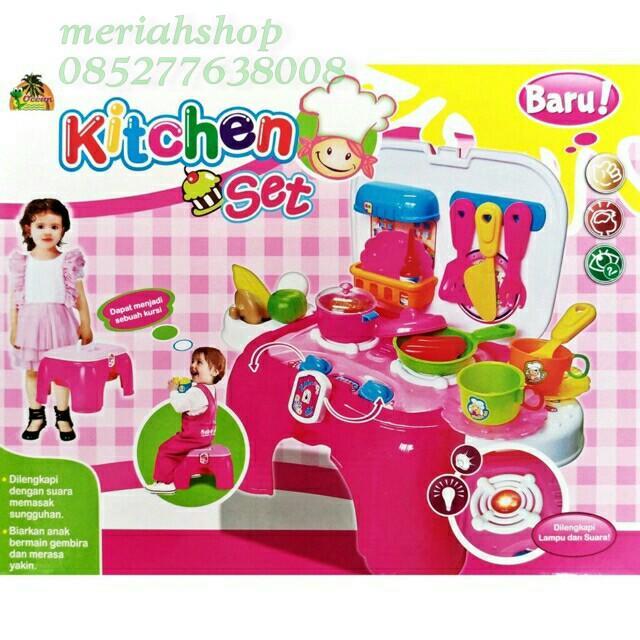 ... Kitchen Set Bangku Masak Masakan Mainan Anak Cewek Edukasi - 4