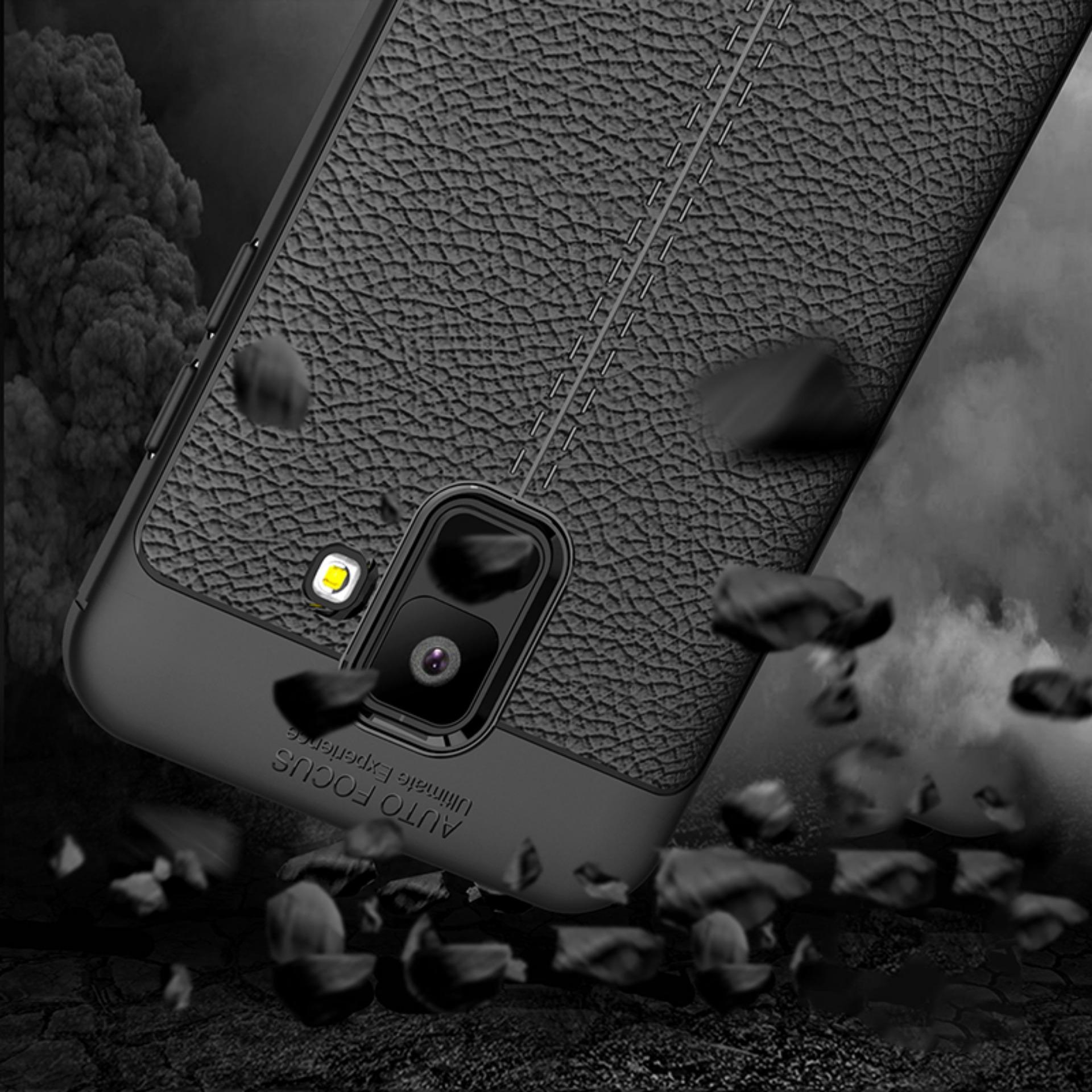 ... Accessories Hp Premium Ultimate Shockproof Leather Case For Samsung Galaxy A6 2018 - Black - 3 ...