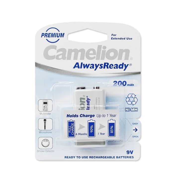 Battery kotak 9V rechargeable 200mAh Camelion