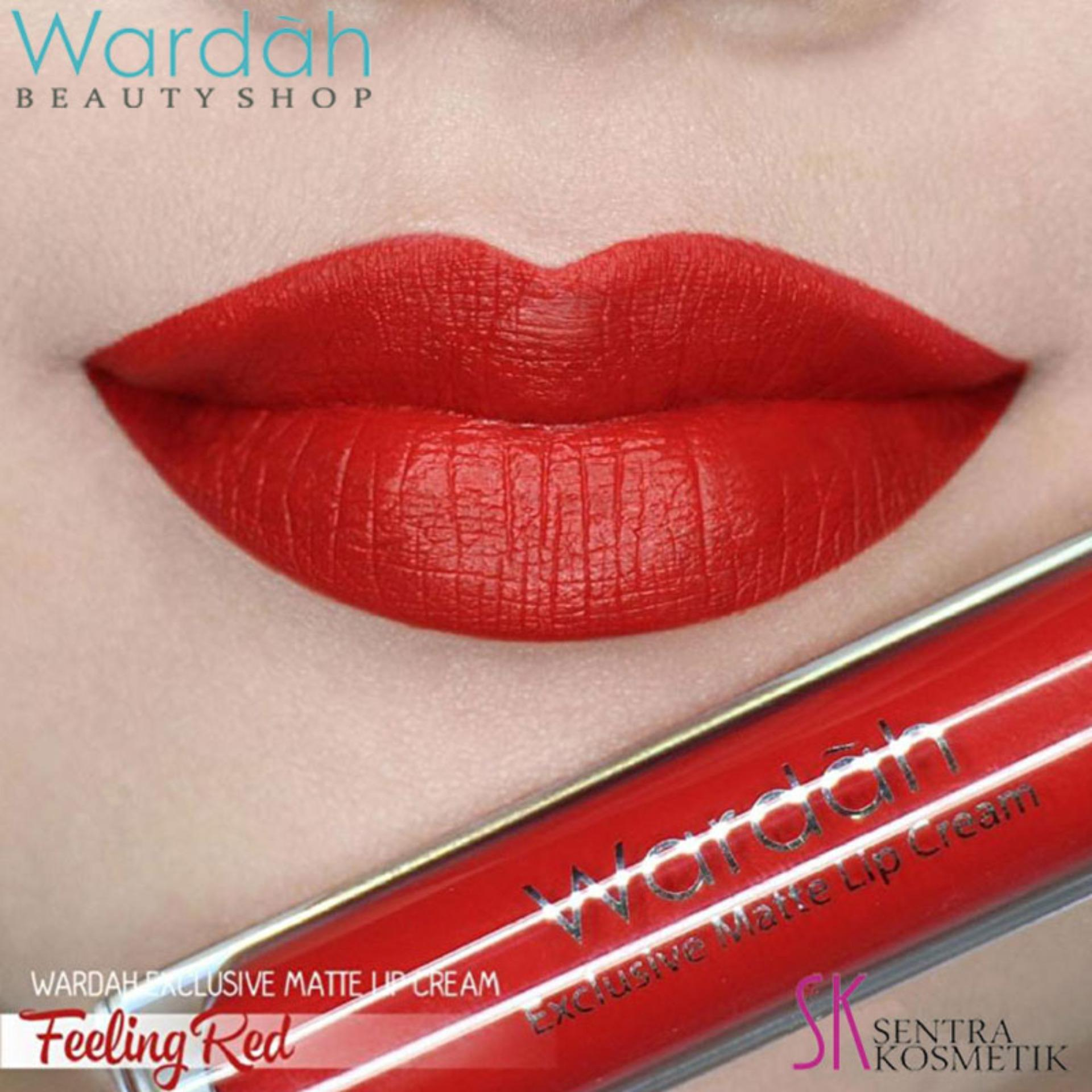 Wardah Exclusive MATTE LIP CREAM No 06 - FEELING RED