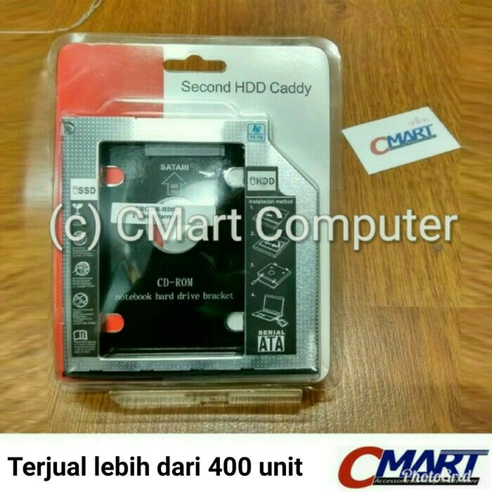 ORIGINAL - SSD HDD Caddy Slim 9.5mm SATA DVD Slot Hardisk - GRC-BR-HDSC95