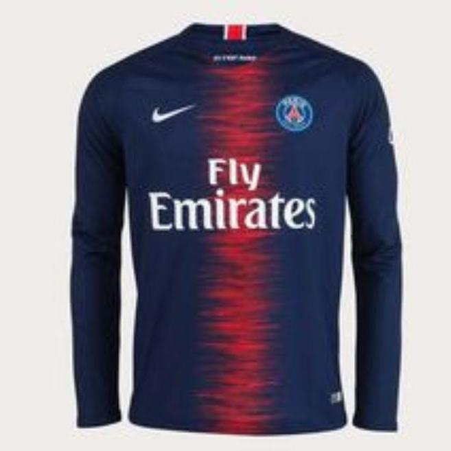 Jersey Bola Paris Saint Germain Home Long Sleeve 2018 - 2019