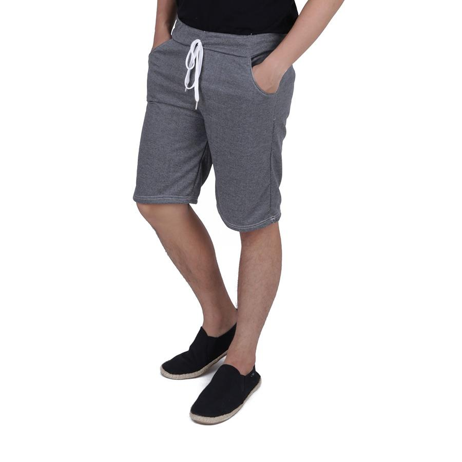 Diskon Elfs Shop Celana Pendek Pria Sweatshirt Jogging Shorts Simple Pants Hitam Elfs Shop