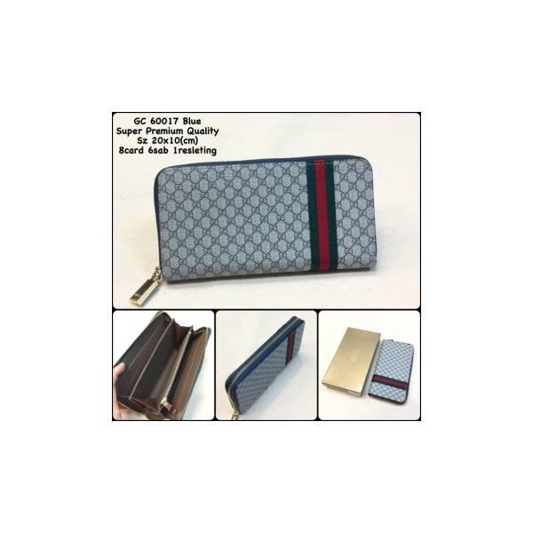Dompet Gucci 60017 Blue Replica Dompet Resleting Dompet Panjang Import