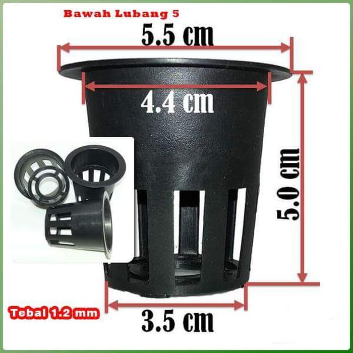 netpot  hidroponik 10 pcs : tinggi 7 cm diameter atas 4.5 cm diameter bawah 3.5 cm