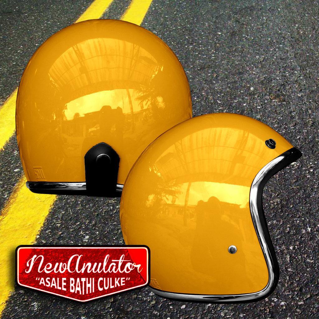 Helm Bogo Orange JM List Lis Chrome Crome Krum Krom Exc Pet Topi Cap