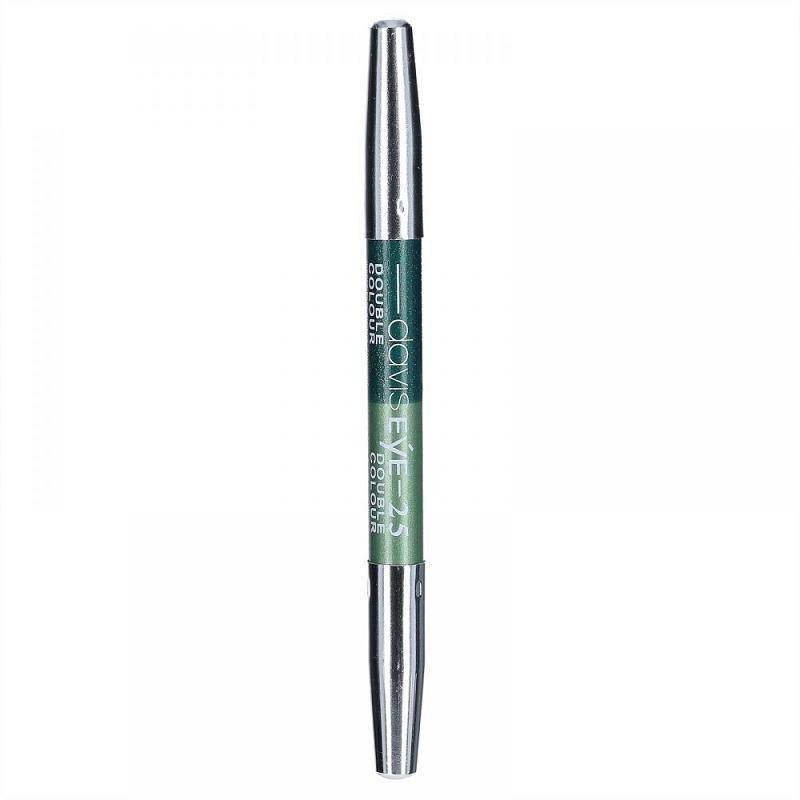 Davis Eyeliner Pensil Eyeshadow Double Colour - Davis Double Color No. 37 Hijau - 1 Pcs - 4