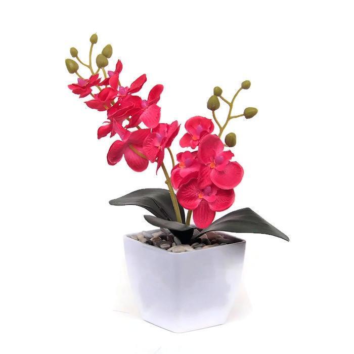 Bunga Hiasan Meja Dan Rumah - Bunga Anggrek - Bunga Pajangan Artifisial  Hiasan Ruang Tamu   08e6c3b1ec