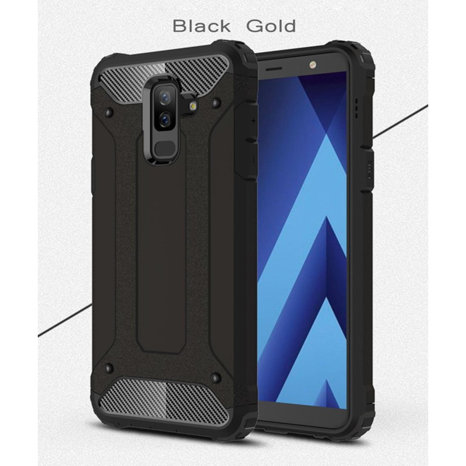 Fitur For Samsung Galaxy A6 Plus 2018 Kickstand 2 In 1 Protective