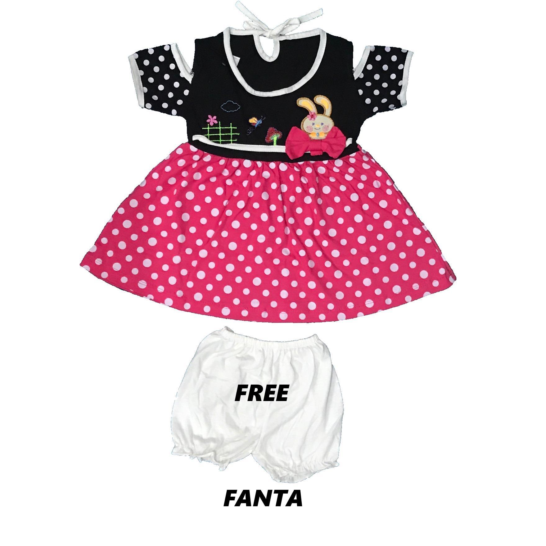BAYIe - Setelan Baju Bayi Dress Perempuan motif RABBIT YUNISA / Pakaian anak cewek umur 1 - 2 tahun