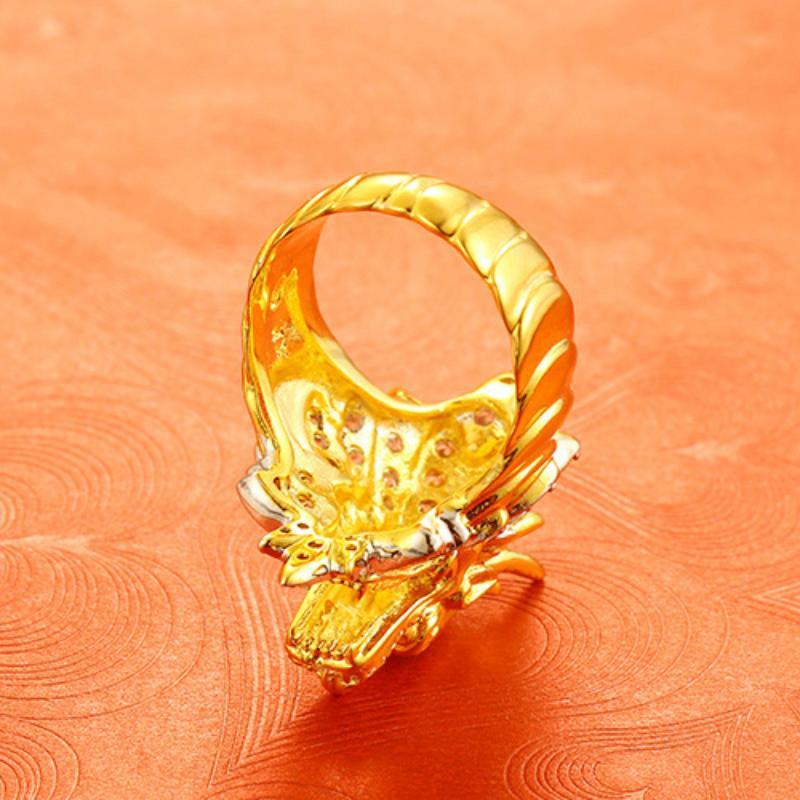 Emas Korea Pria Cincin Hadiah 24 K Emas Saudi Cincin Naga Cowok Pria .