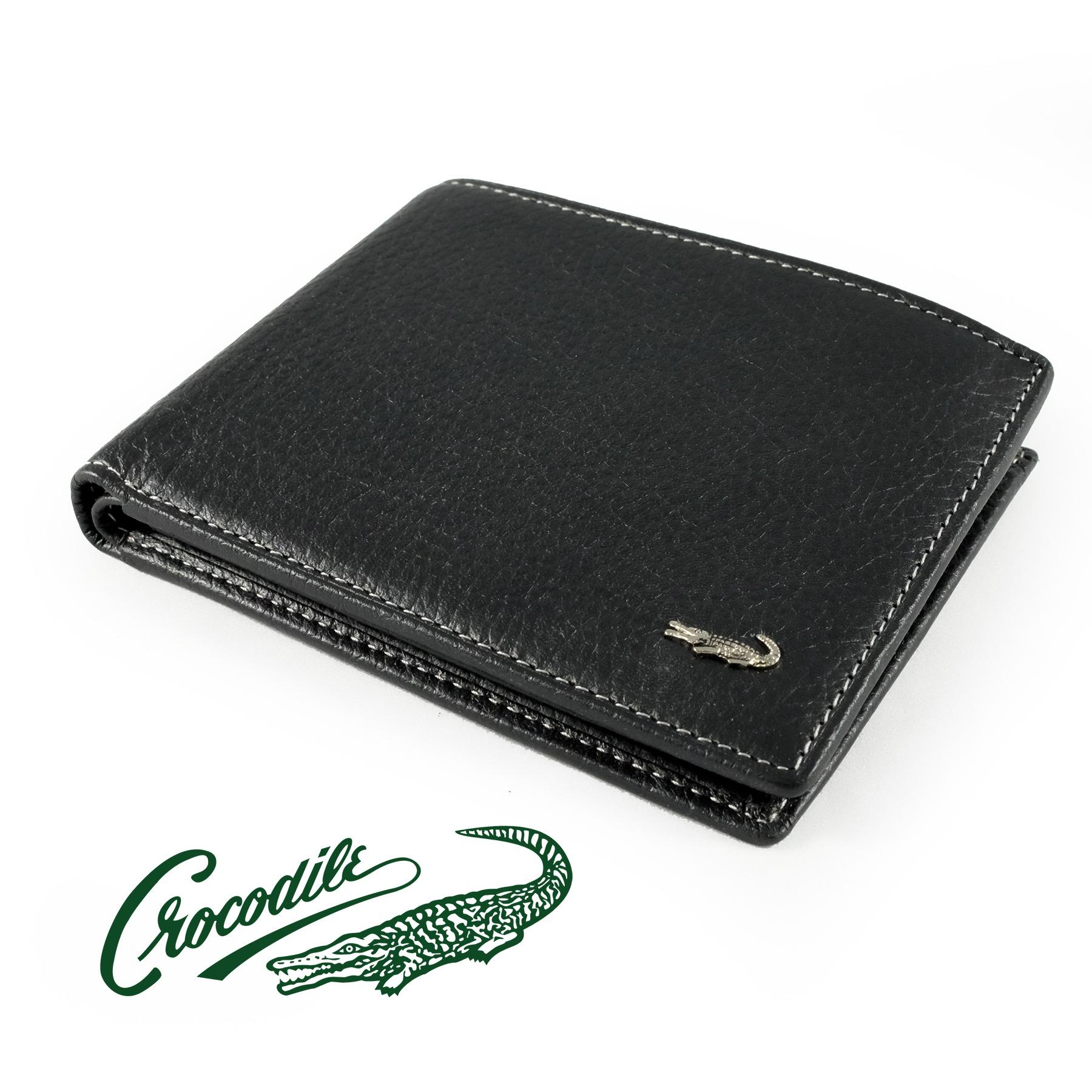 0203-11041 Dompet Pria Men Wallet Leather Kulit Crocodile Original