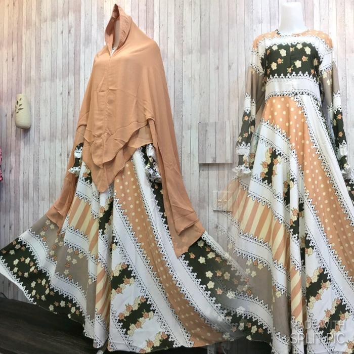 Harga Adzra Gamis Syar I Murah Busana Muslim Wanita Alvera Dress Putih New
