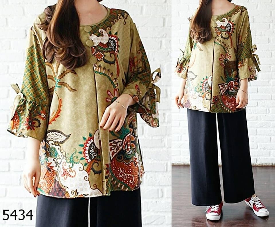 COUPLELOVER-BLOUSE Jumbo puri batik - ld-120 UKURAN BESAR JUMBO FASHION  BLOUSE TUNIK ff056ea80d