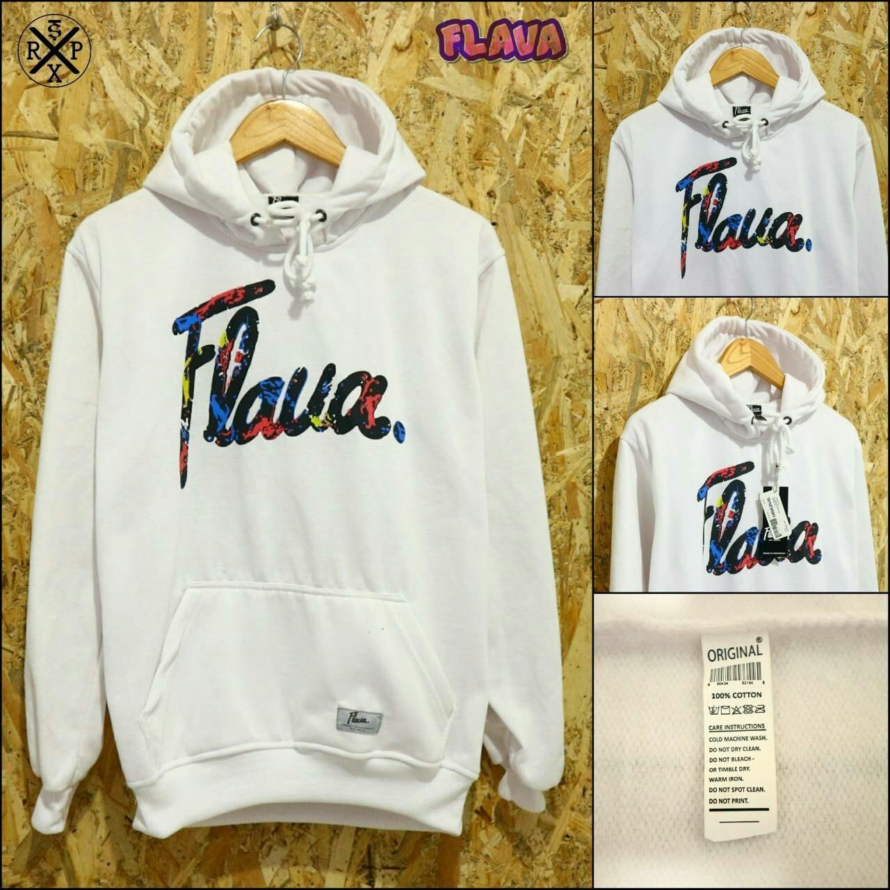 Wear Jaket Sweater Hoodie Flava White Di Indonesia