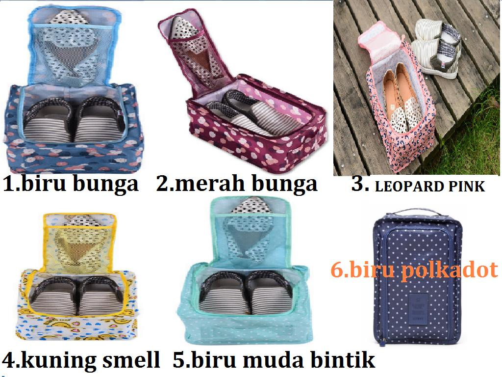 tas sepatu sandal shoes pouch travel bag organizer handbag 2 pasang - 3