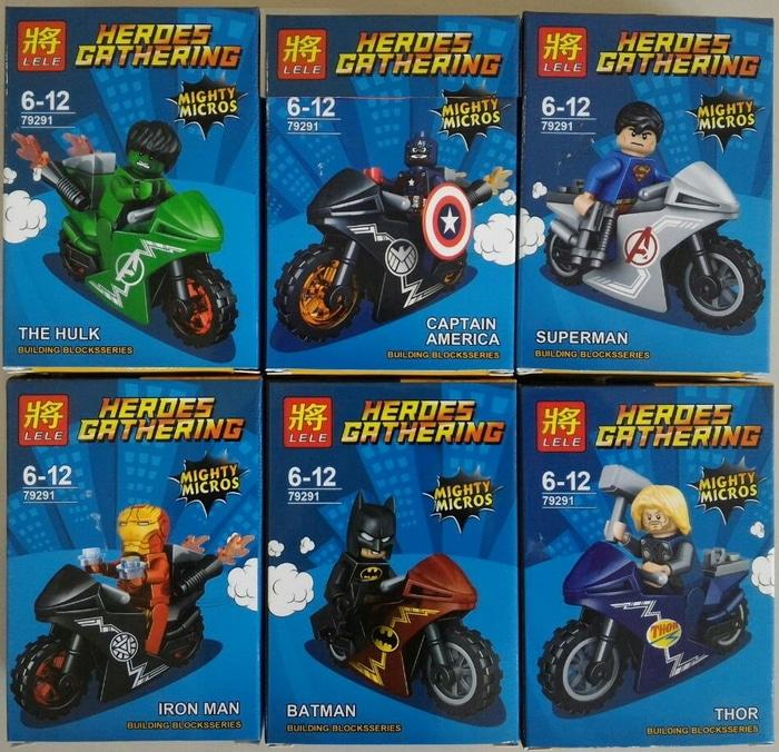 Lego Super Hero Superhero Avengers Superman Batman Motor LELE 79291