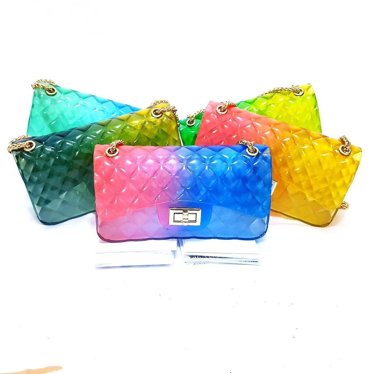 jaya shop tas jelly pelangi 22cm BISA BAYAR DITEMPAT (COD) - tas wanita - 7d8b4e2c50