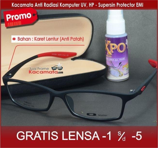 Detail Gambar Promo  Frame Kacamata Lentur Lensa Minus Baca Anti Radiasi  Pria Wanita Kotak - ready stock Terbaru 0fa6870594