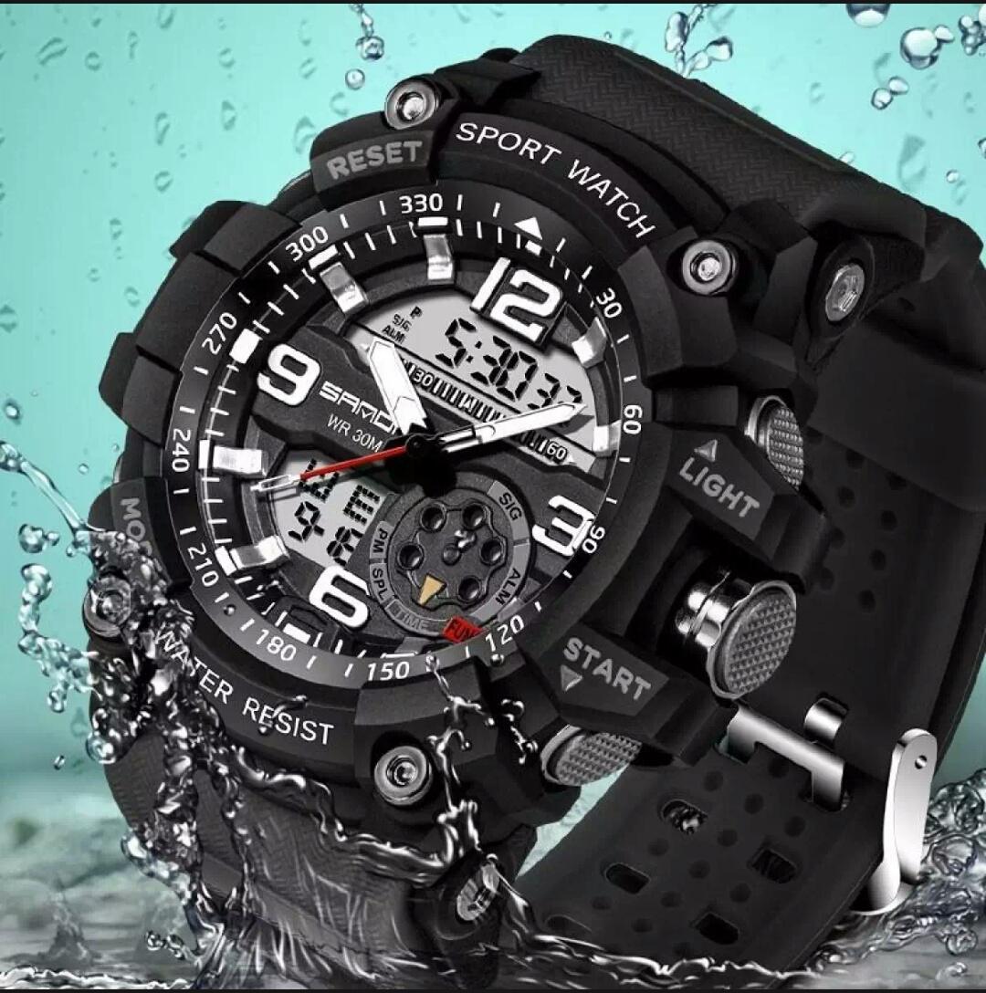 Casio G Shock Jam Tangan Sport Fashion Pria dual time Water Resist - Limited