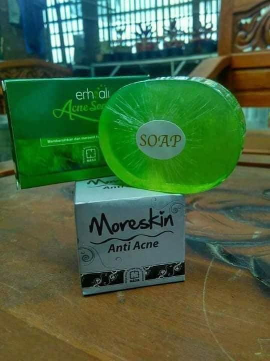 PAKET JERAWAT NASA (MORESKIN ANTI ACNE & ERHSALAI ANTI ACNE FACIAL SOAP)