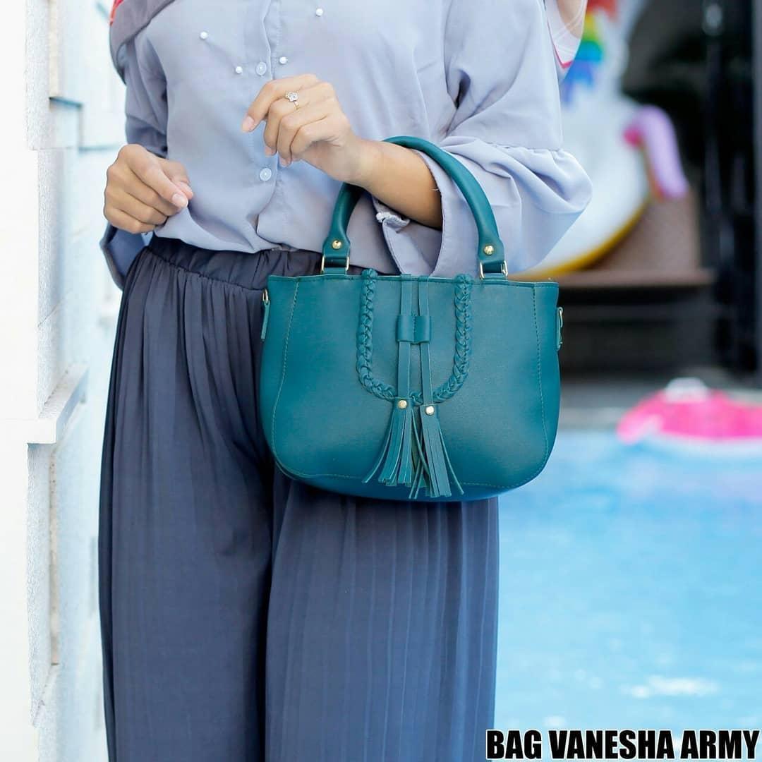 Ubay Shop Tas Selempang Wanita / Tote VaneshaSolid Shoulder Bag - 3 .