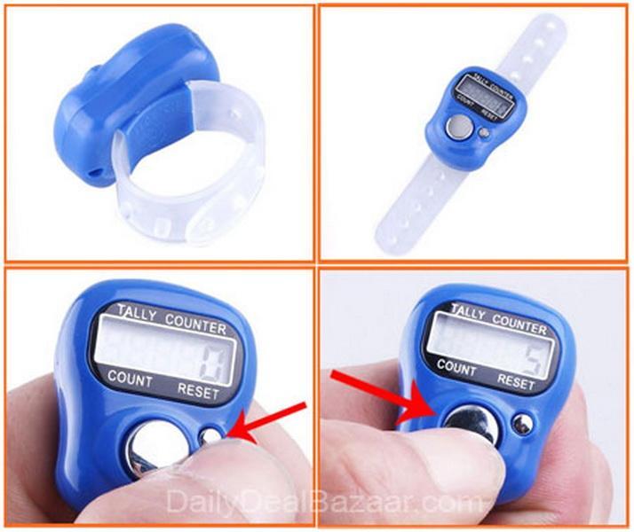 Gogo 2 Pcs Tasbih Digital - Finger / Tally Counter