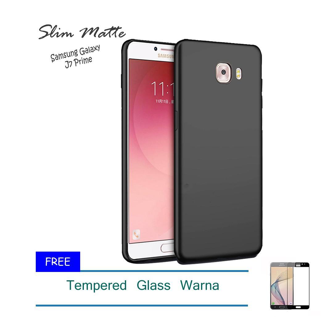 Kenzoe Case Super Slim Black Matte Samsung Galaxy J7 Prime Baby Skin Softcase Ultra Thin Jelly