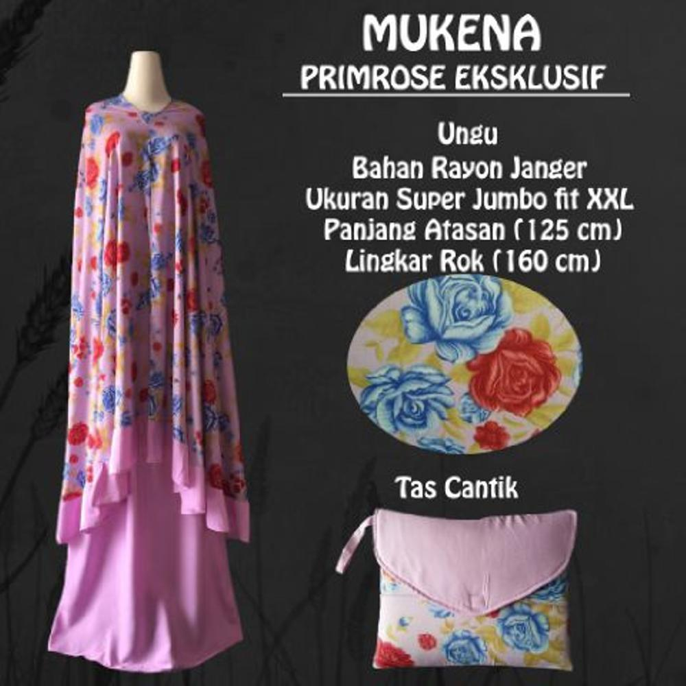 Mukena Bali Dewasa Super Jumbo Primerose Eksklusif Warna Ungu