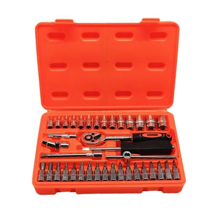 Tool Kit 38 In 1 Kunci Sock - Pas - SHOCK - Sok Obeng Alat Bengkel Set