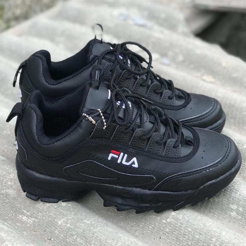 Sepatu FILA Disruptor 2 Premium Import Vietnam - Sepatu Sneakers Sport Wanita Dan prian- Sepatu Full Black/ Sepatu casual/ Sepat Termurah - 3