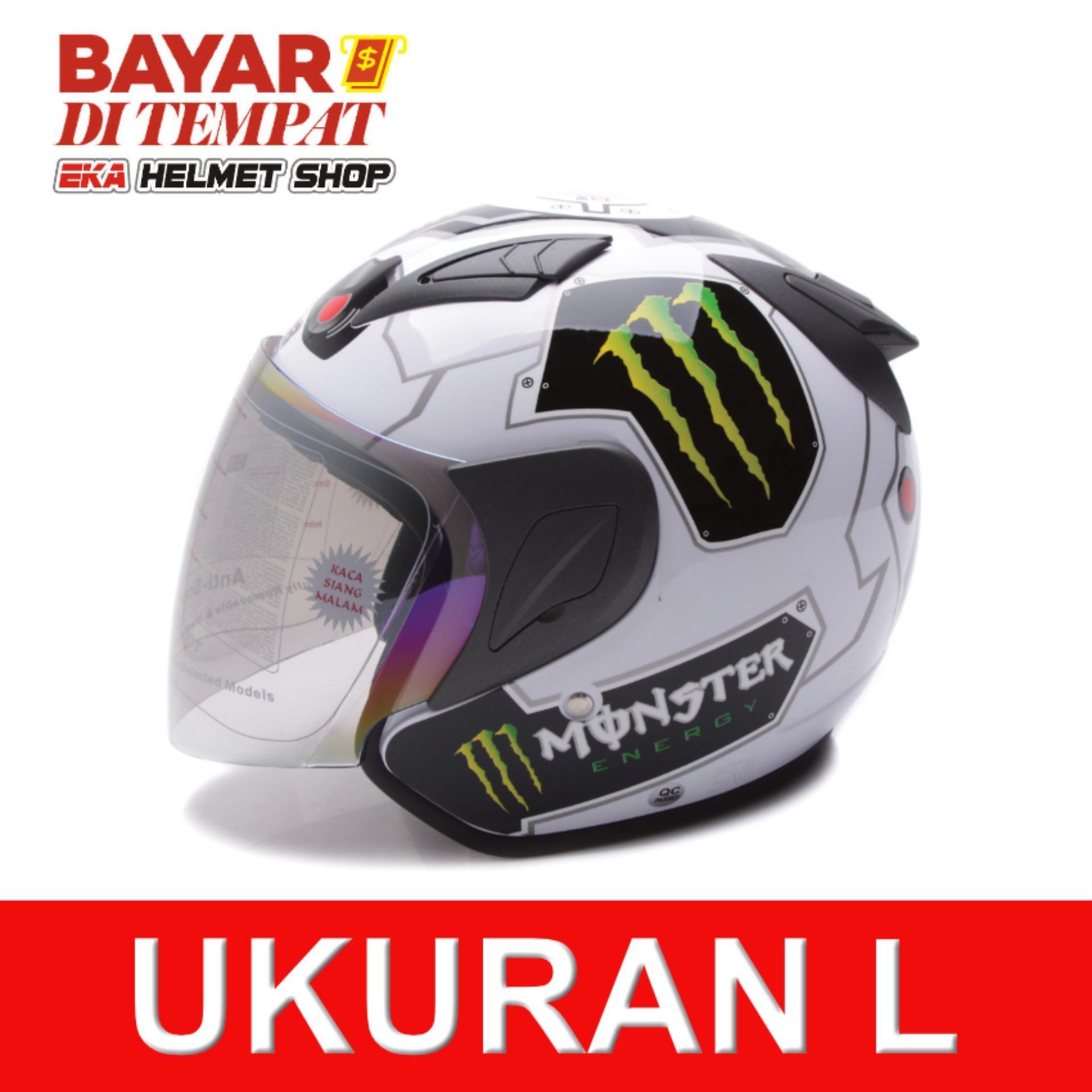 Jual Msr Helmet Javelin Monster Putih Banten Murah