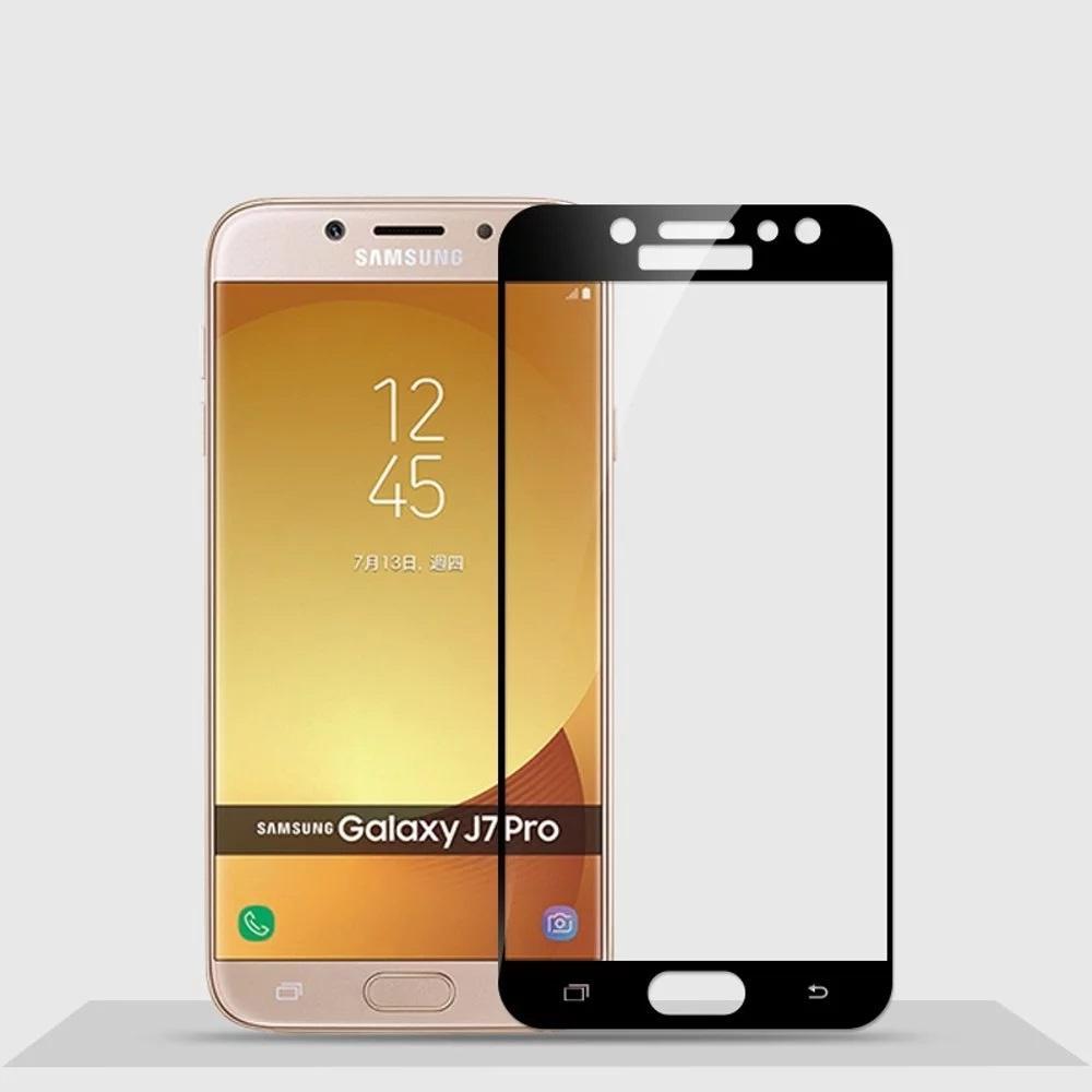Tempered Glass 3D Samsung Galaxy J7 PRO Temper Anti Gores Kaca 9H / Pelindung Layar 3D