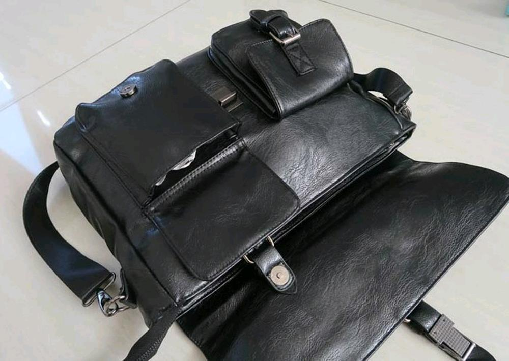 Gambar Produk Rinci tas selempang kantor pria - tas ransel punggung  backpack murah - tas kulit import kekinian - tas sekolah kuliah kerja - tas  branded ... fb745386b2