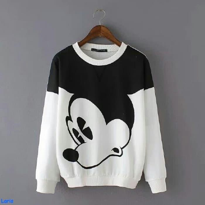 MichelleStore Sweater Wanita Crop Hoodie SARANGE - Pink. Source · Sweater  big mickey-jaket mickey mouse-fashion-baju grosir-sale-AL df8959dcde