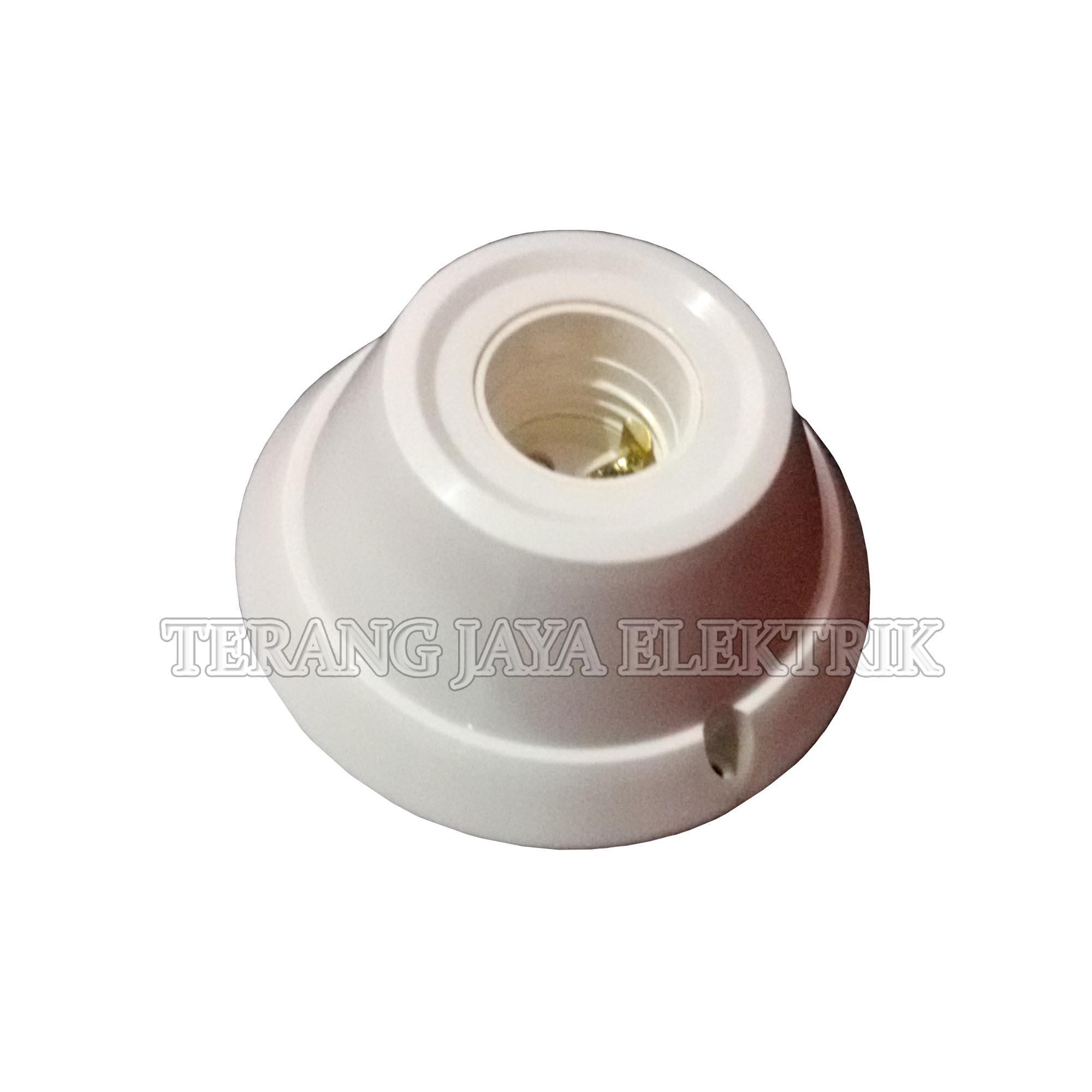 ... Fitting/Fiting/Rumah Lampu Plafon E27 Bulat Panasonic 10 Pcs Putih - 3