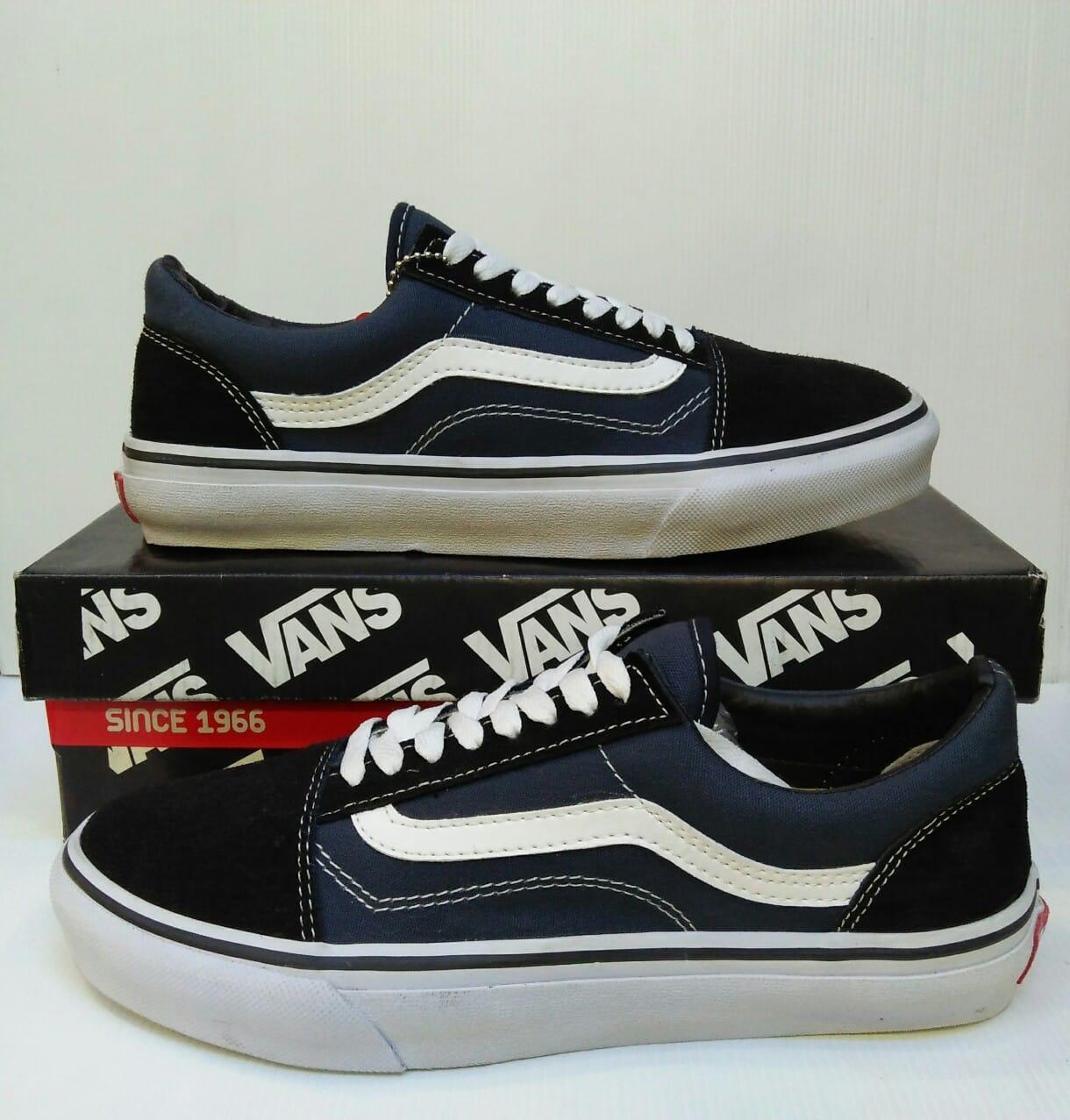 Sepatu Casual Pria Vans OldSkool CheckerBoard / Sepatu Skate Vans Checker Board Old Skool Sneakers