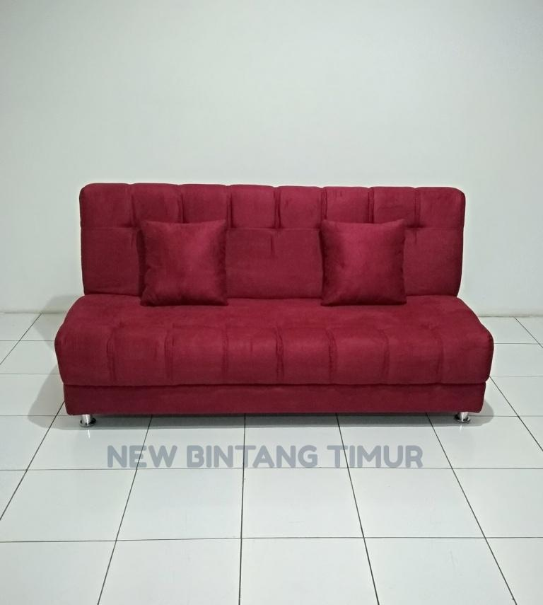 Sofa Bed Queen - Red Kain