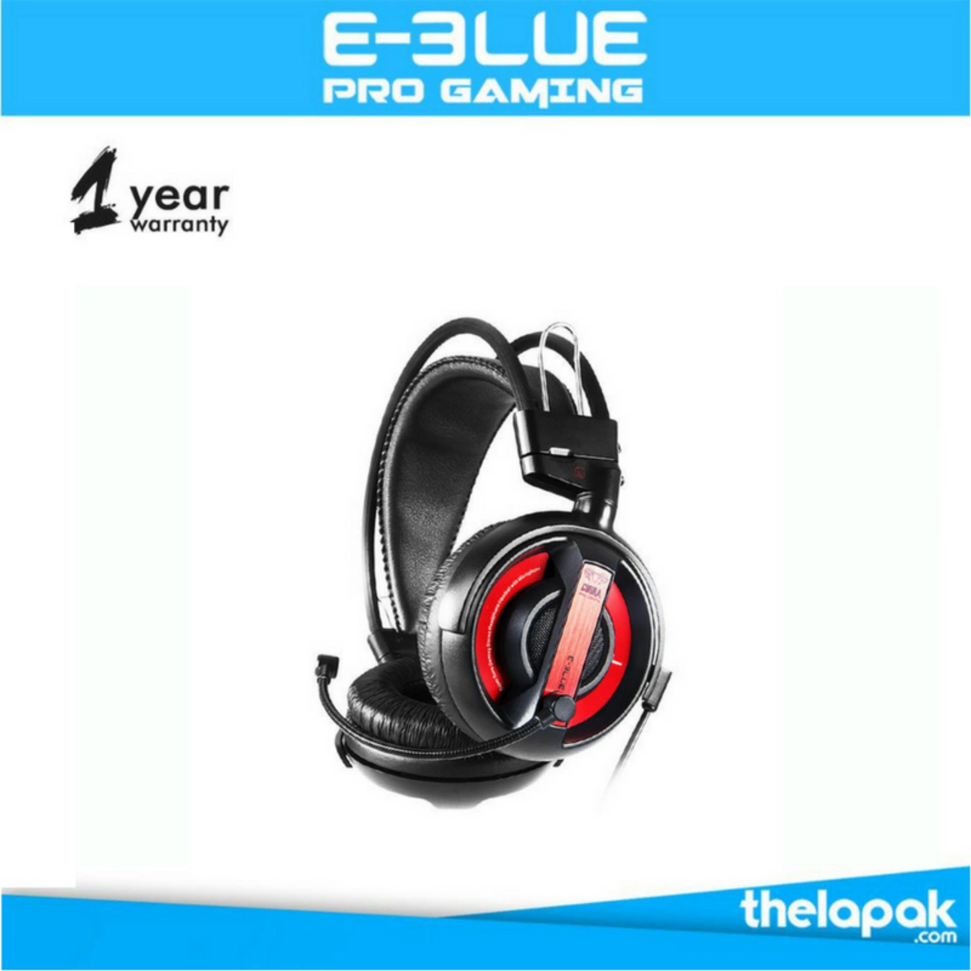 E Blue Cobra Gaming Headset Merah Original