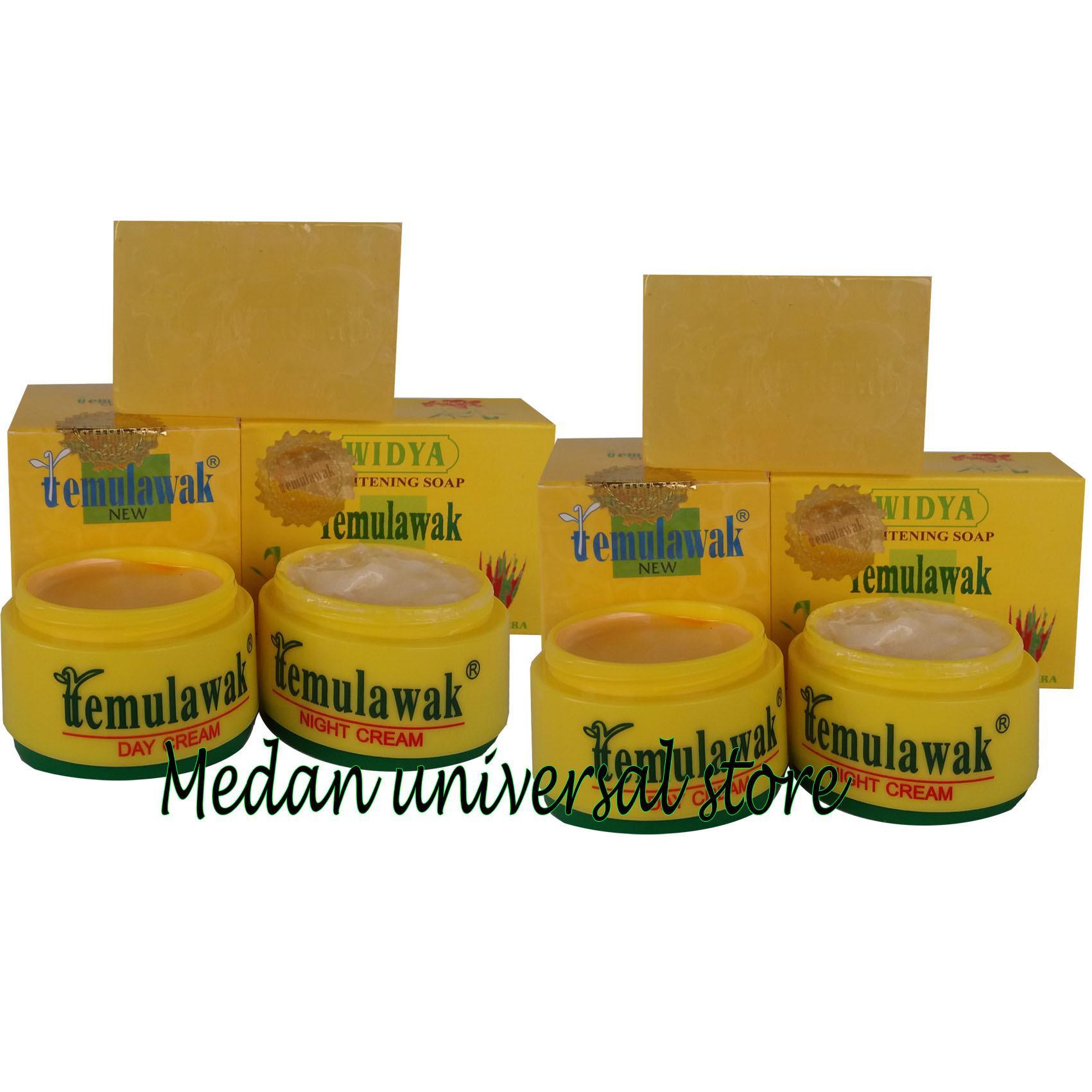 2 Paket Temulawak Cream Day & Night + Sabun Widya Aloe Vera Holo Besar