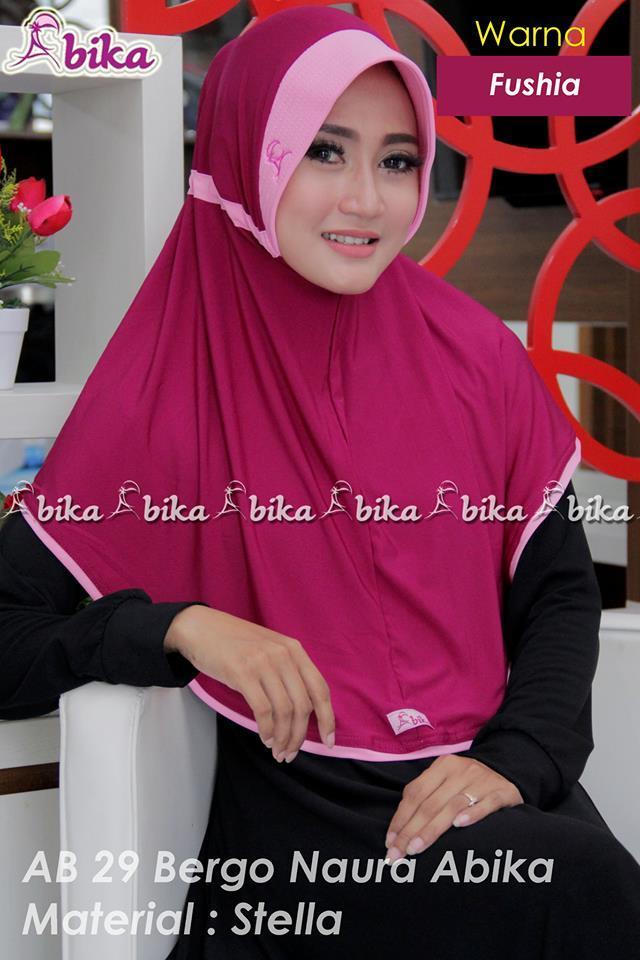 abika bergo naura std / kerudung jilbab hijab instan - 2