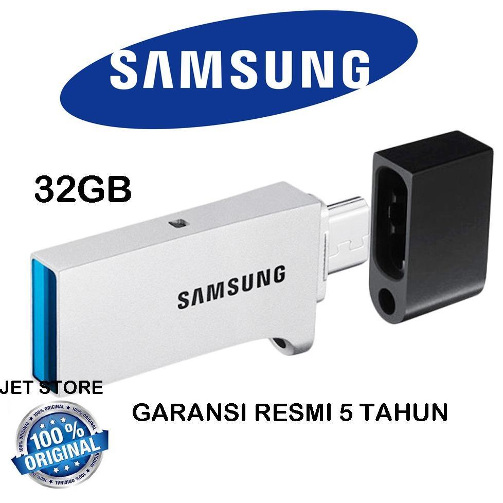 Promo Samsung 32Gb Otg Usb 3 Flash Drive Duo Silver Samsung