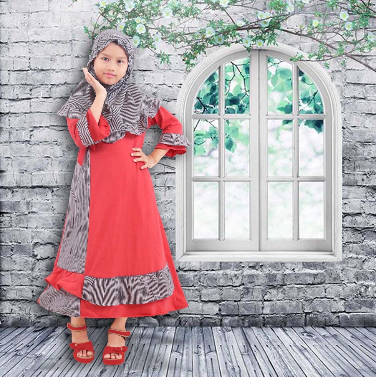 Features Baju Gamis Anak Perempuan Plus Jilbab Dan Harga Terbaru