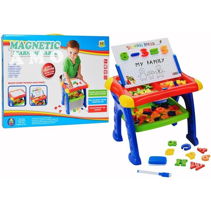 3IN1 MAGNETIC LEARNING TABLE QJ5592 MAINAN EDUKASI MEJA BELAJAR edukatif anak