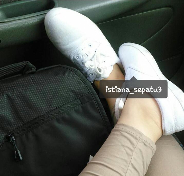 (PUTIH/WHITE) sepatu 068 kanvas px style sneaker wanita murah - 2 ...