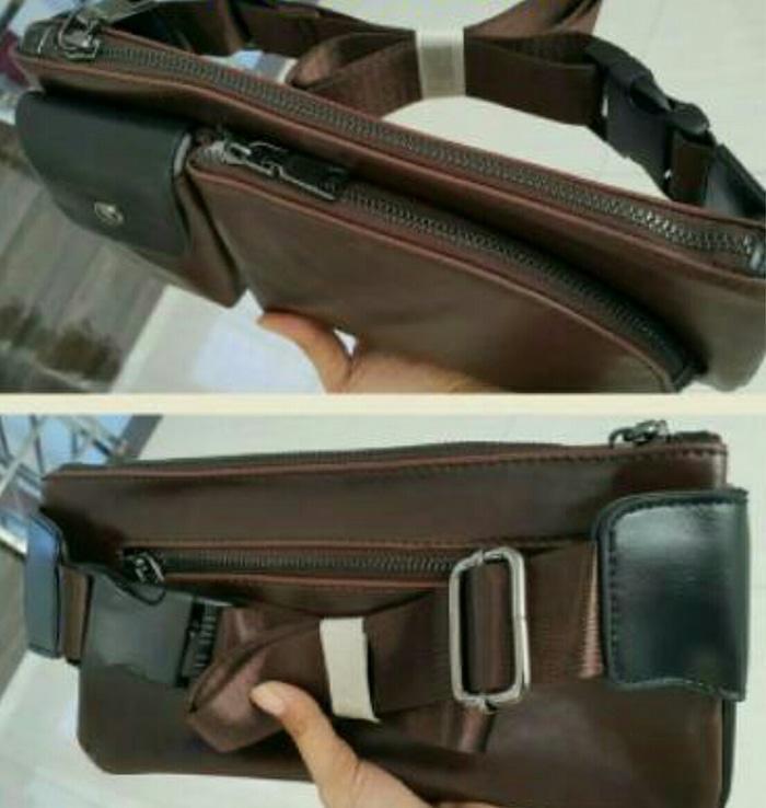 L105 Tas selempang slingbag waistbag crossbody slempang pria import - sW8MXA Terbaru