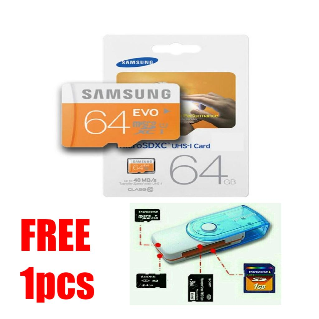 Samsung Memory Card microSDXC Evo/Pro Plus U3 K4 64GB/100MB/s with Adapter Free Card Reader